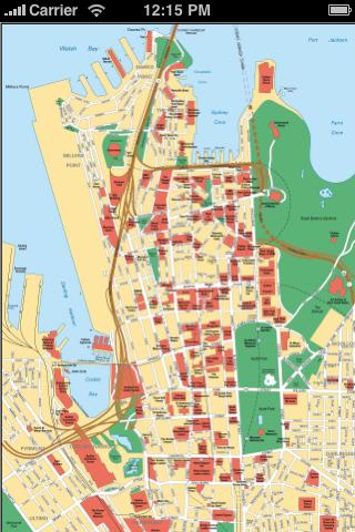 悉尼中文地图全图